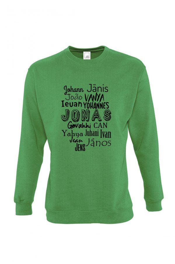 Žalias džemperis Tarptautinis Jonas
