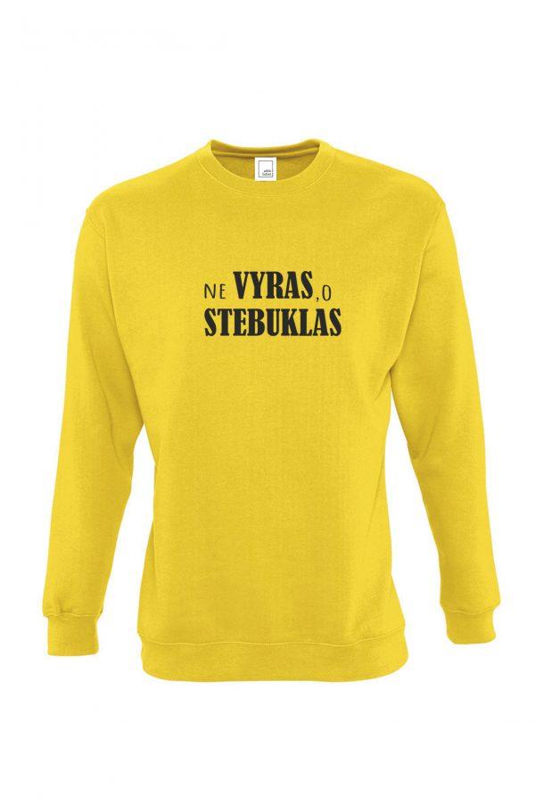 geltonas džemperis Ne vyras o stebuklas