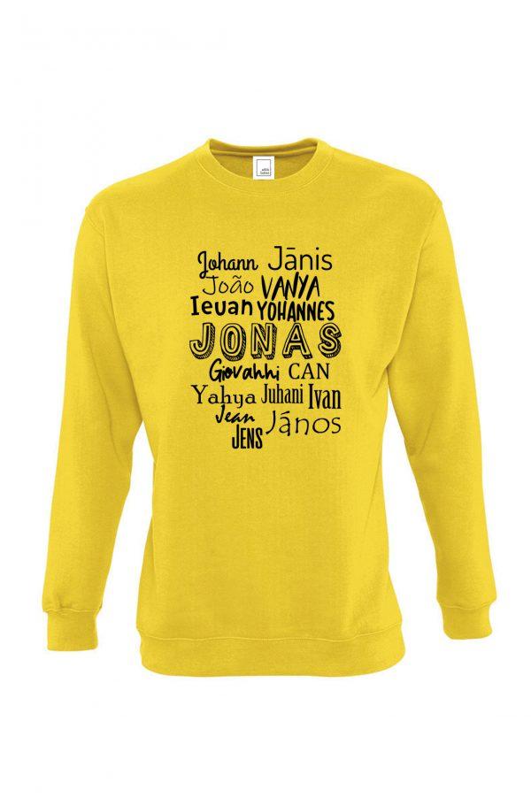 geltonas džemperis tarptautinis jonas
