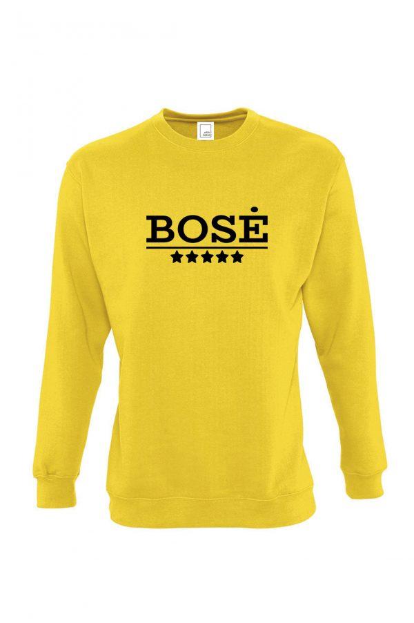 Geltonas džemperis su užrašu Bosė