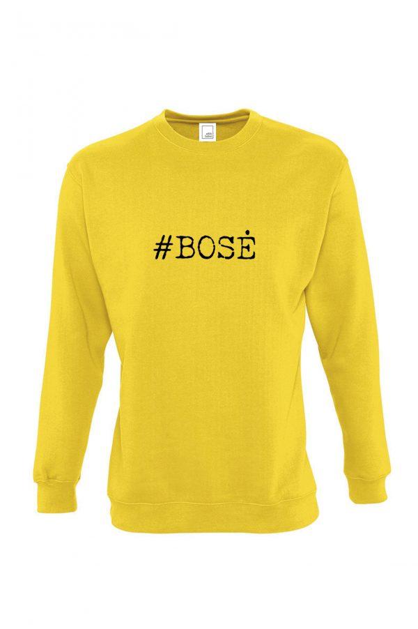 Geltonas džemperis su užrašu #bosė