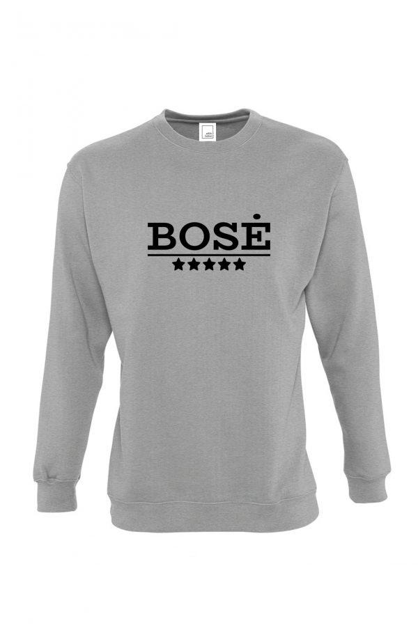 Pilkas džemperis su užrašu Bosė
