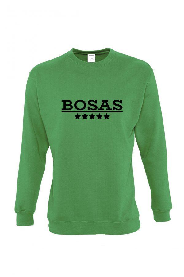 Žalias džemperis su užrašu Bosas